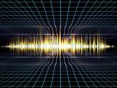 Oscilaciones de la música — Foto de Stock