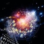 文档的宇宙 — 图库照片
