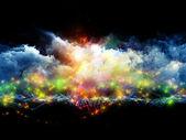 Vibrant fractal foam — Stock Photo