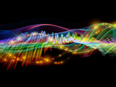 Sine wave of colors — Stock Photo