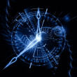 Abstract clock backdrop — Stock Photo