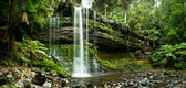 Russell Falls, Mount Field National Park, Central Tasmania — Stock Photo