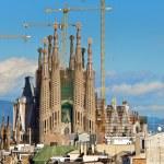 BARCELONA, SPAIN - December 15th 2011: La Sagrada Familia - the — Stock Photo #9489534