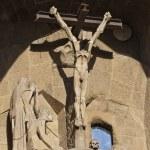 BARCELONA, SPAIN - DECEMBER 15: La Sagrada Familia Exterior - th — Stock Photo #9552696