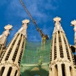BARCELONA, SPAIN - DECEMBER 15: La Sagrada Familia Exterior - th — Stock Photo #9552702