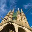 BARCELONA, SPAIN - DECEMBER 15: La Sagrada Familia Exterior - th — Stock Photo #9552720