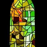 BARCELONA, SPAIN - December 15: The windows of La Sagrada Famili — Stock Photo #9552755