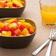 Royalty-Free Stock Photo: Two bowl of Mixed tropical fruit salad