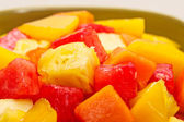 One bowl of Mixed tropical fruit salad — Stock Photo