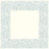 Cornice quadrata da motivi floreali in stile vintage — Vettoriale Stock