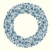 从复古风格花纹圆架 — 图库矢量图片