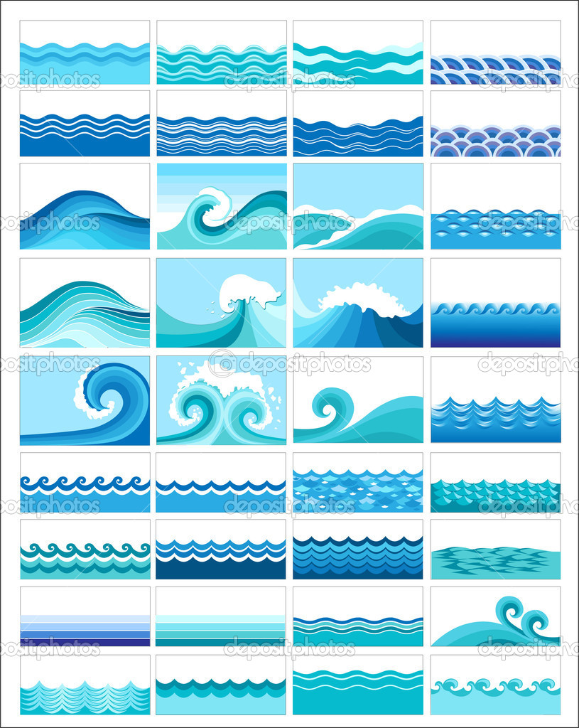 Water waves graphic