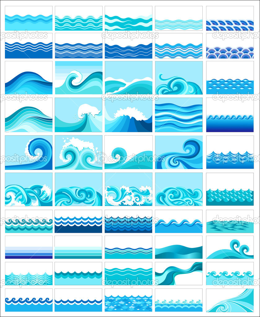 Декоративный узор волна