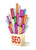 SEO - search optimization concept — Stock Vector