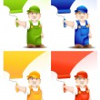 Stock Vector: Worker cartoon
