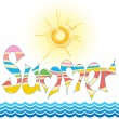 Word summer — Stock Vector #9627110