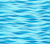 Seamless marine wave patterns — Stock Vector