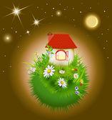Night flowering globe — Stock Vector