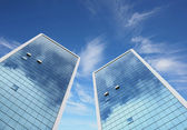 Highrise glass building — Stock Photo