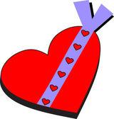 Heart gift — Stock Vector