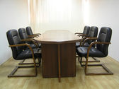 Empty boardroom or meeting room. — Stock Photo