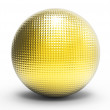 3d metallic golden sphere — Stockfoto