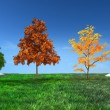 3d concept Four seasons — Stockfoto #8907053