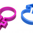 3d male female symbol — Stock Photo