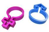 3d male female symbol — Stock Photo