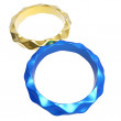 3d golden and blue rings forming the number eight — Stock Photo