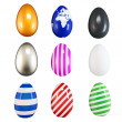 Royalty-Free Stock Photo: 3d collection of easter eggs