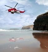 Air sea rescue coast search — Stock Photo