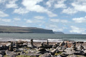 Doolin beach with rock stacks — Stock Photo