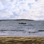 Irish curragh rowing boat — Stock Photo