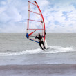 Windsurfing in a storm — Stock Photo
