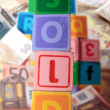 Sale in toy play blocks — Stock Photo #8142715