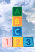 Abc123 in clouds — Stock Photo