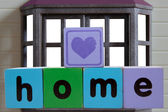 Heart on home in frame — Stock Photo