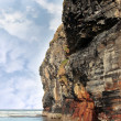 Cliff reflected on ballybunion beach - 图库照片