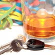 New year think before booze driving - Stock Photo