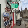 Irish road signs on path — Stock Photo