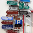 Stock Photo: Many irish road signs