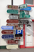 Many irish road signs — Stock Photo