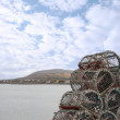 Stock Photo: Lobster pots on a quay
