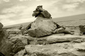 Burren landscape rock formation — Stockfoto