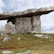 Poulnabrone dolmen portal limestone tomb - Stock Photo