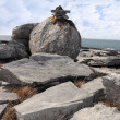 Boulders in rocky burren landscape — Stock Photo