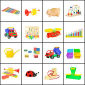 A collage of children's toys — Stock Photo