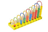 Children's wooden abacus — Stock Photo