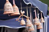 Clay souvenir bells — Stock Photo